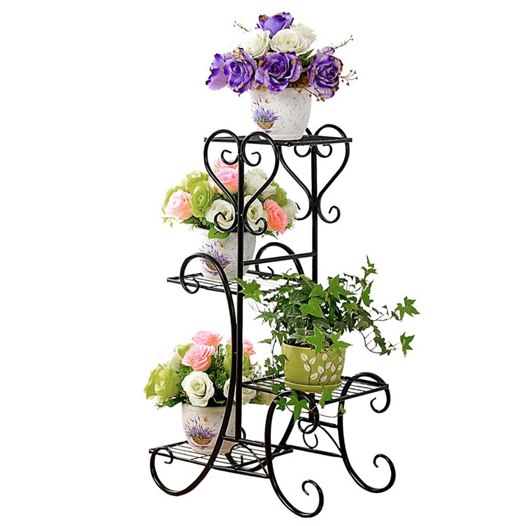 Chairs FL Pergolas/Flower Racks Flower Stand Multi-Layer Iron Art Floor-Standing Flower Pot Holder Living Room Balcony Flower Display Stands