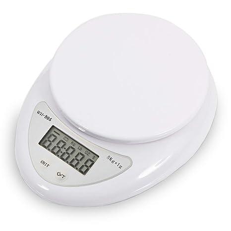 Amazon.com: Báscula de cocina digital 11 lb 11.0 lbs 176.37 ...