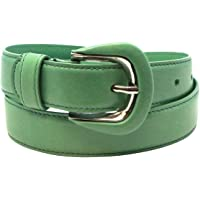 """Made in USA - Luxury Retail Store Quality Genuine Leather Fashion Belt for Women - 30mm 1 1/8"""" wide - Real Leather…"""