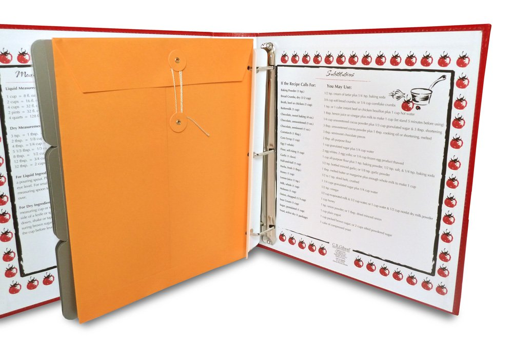 Personalized Recipe Binder Organizer by Cookbook People - Full Page (A La Carte, Full Page) by Cookbook People