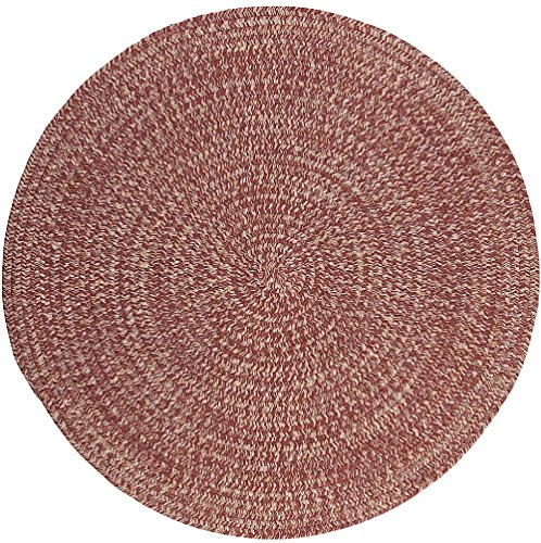 Contemporary 4' Round Area Rug in Berry color from Cleveland (Berry Round Rug)