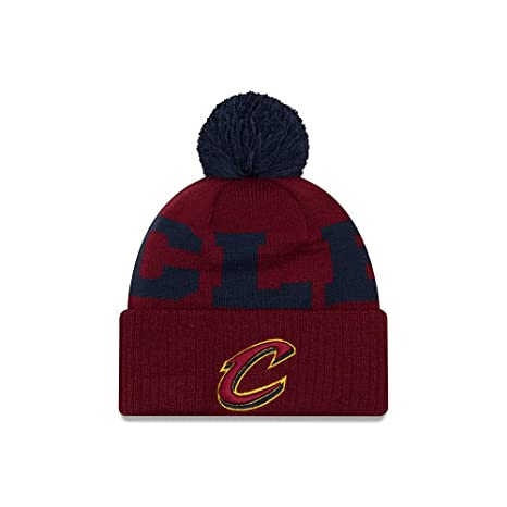 ef8f6d8386ad4a Image Unavailable. Image not available for. Color: New Era Cleveland  Cavaliers Scoreboard Cuffed Knit Pom Hat/Cap