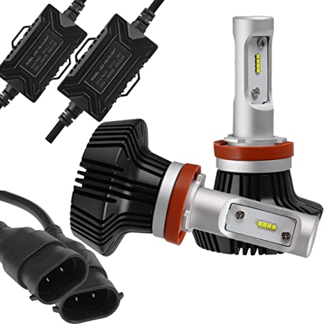 Amazon com: Pair H8 H11 LED Headlight Bulbs Conversion Kit