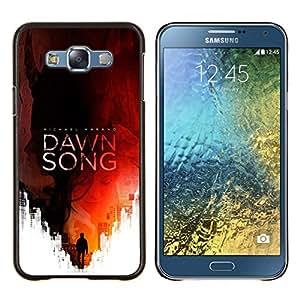 LECELL--Funda protectora / Cubierta / Piel For Samsung Galaxy E7 E700 -- Lectura Canción Cubierta del libro Red Man --