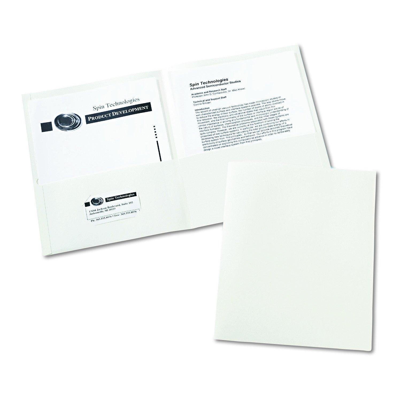 Amazon.com : Avery Two-Pocket Folders, White, Box of 25 (47991 ...