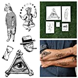 Tattify Line Drawing Temporary Tattoos - Hodgepodge