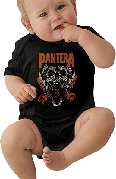 PANTERA  Unisex Baby Romper Bodysuit~Black