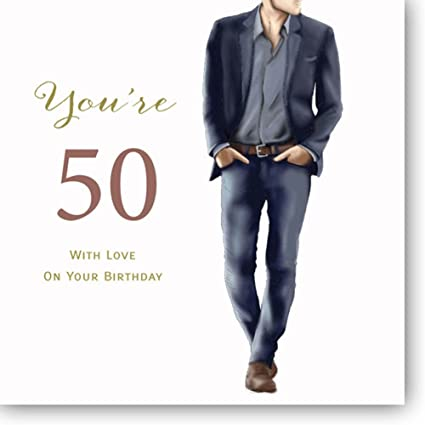 Amazon Large Happy 50th Birthday Card For A Man 825 X 825