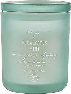 DW Home Eucalyptus Mint Medium Single Wick Candle