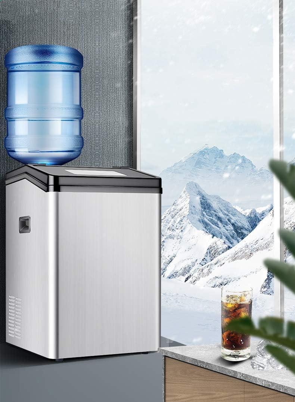 QWEAS Comercial de Hogares de Hielo Que Hace la máquina, máquina de 55KG encimera eléctrica automática de Hielo para la Tienda Mesa de Bar El Agua del Grifo de inyección/Agua embotellada