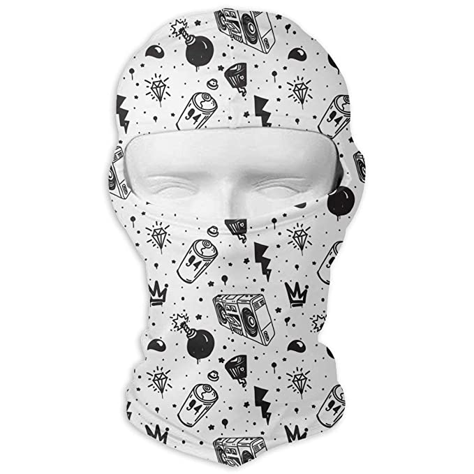 def540a17b936 Graffiti Graphic Spray Cartoon Men Women Balaclava Neck Hood Full ...