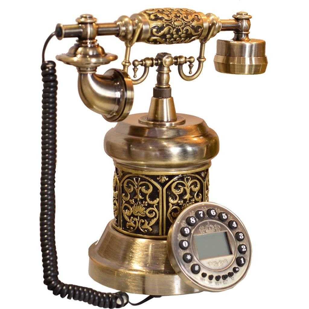 ZYN 電話アンティークアメリカンスタイルのハイエンド創造的な金属レトロヨーロッパスタイルの電話の固定電話 NYZ B07GSYB5WX