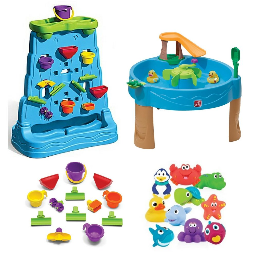 Kids 13-Piece Accessory Waterfall Discovery Wall, Duck Pond Water Table With Water Toys & 10 Pack Little Squirts, Step2, Water Table, Water Toys, Step2 Water Table, Kids Outdoor Play, Kids Games