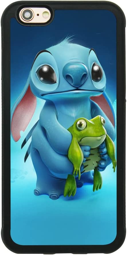 Lilo & Stitch Ohana Case for iPhone 6/6S (4.7 Inch) Comic TPU Silicone Gel Edge + PC Bumper Case Skin Protective Custom Designed Printed Phone Protector Full Protection Cover