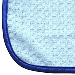 (5-Pack) THE RAG COMPANY 16 in. x 16 in. Premium South Korean 70/30 Blend 400gsm Waffle-Weave Microfiber Detailing and Drying Towels by The Rag Company