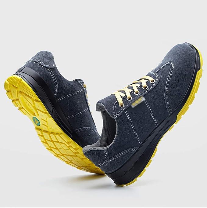 Zapatos de seguridad Puntera de acero para hombres zapatos de seguridad livianos, resistentes al desgaste y resistentes al desgaste, soldador eléctrico, ...