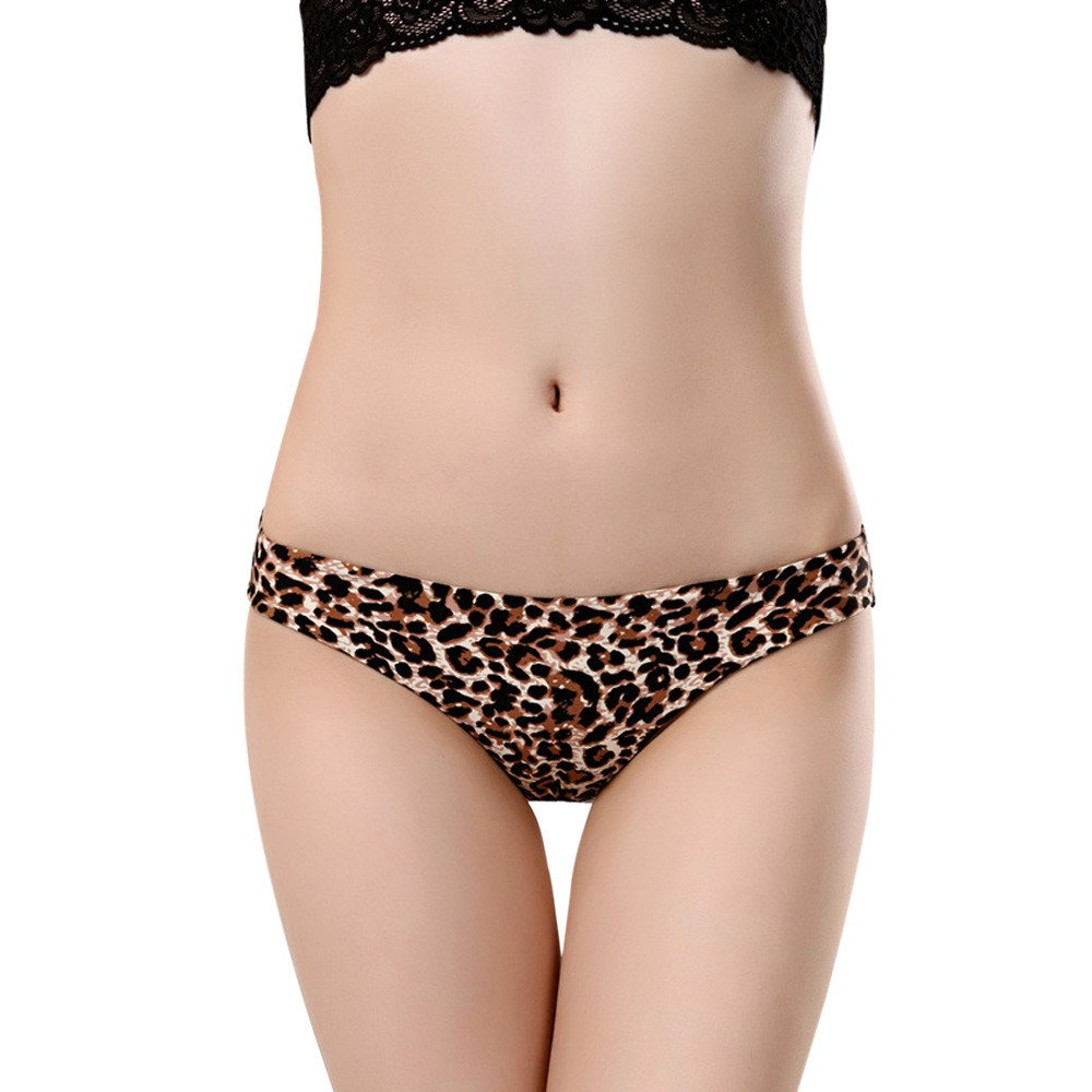 CailangT Women lace Panties Seamless Cotton Panty Hollow Briefs Underwear (M, Brown)