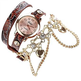 Relojes de Pulsera para Mujer, de Piel, con Esfera pequeña y ...
