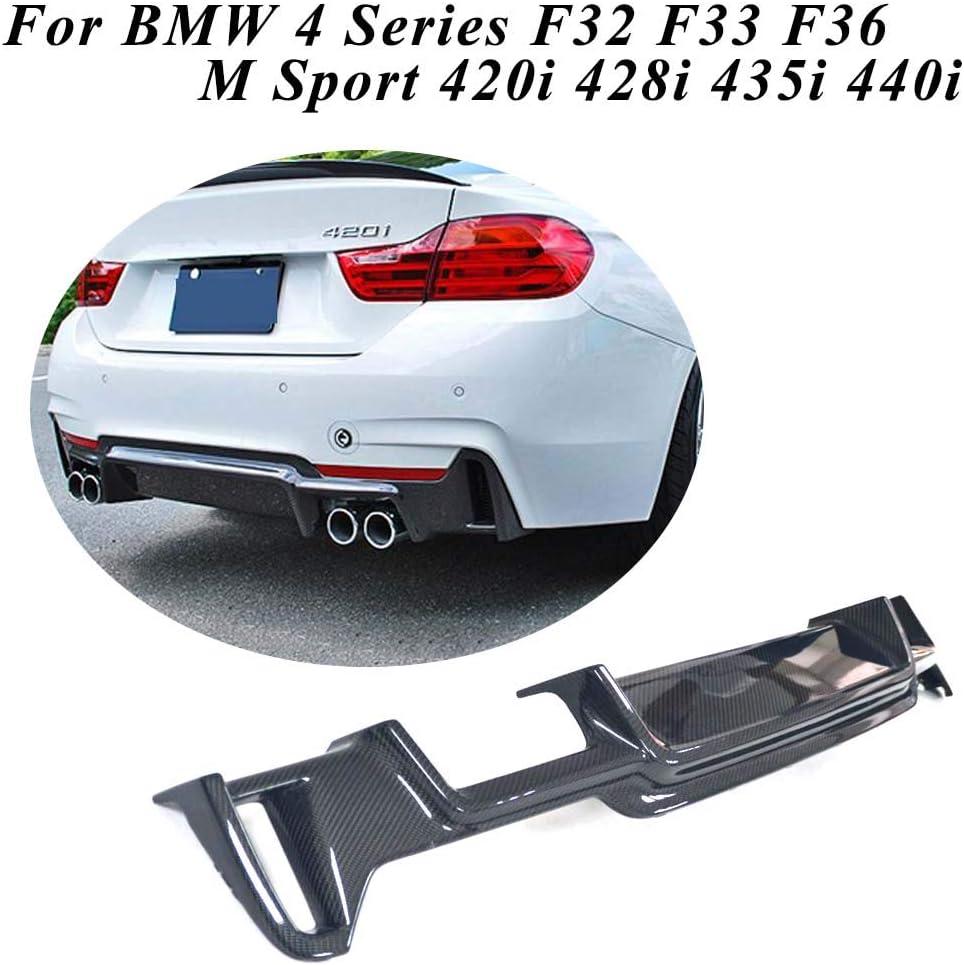 JC SPORTLINE Carbon Fiber Side Bumper Vent Trim fits for BMW F32 F33 F36 Base//M Sport 2Door 4Door 2014-2019 Side Air Fender Cover Trim Scoop Winglet Rear Splitters Spoiler