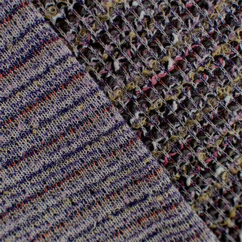 Multi Wool Blend Novelty Textured Sweater Knit, Fabric by The Yard