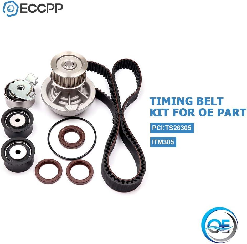 Code X22SE ECCPP Timing Belt Water Pump Kit Fits 1998-2003 Daewoo Leganza Isuzu Amigo Rodeo Rodeo SPORT 2.2L 2180CC L4 DOHC 16V Eng