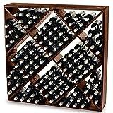 Jumbo Bin 120 Bottle Wine Rack - Walnut