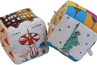New Yorker Pack (New York City + Brooklyn Blocks) | Organic Toys | Eco Soft Cotton | Best Toy of the Year | Handmade in Brooklyn | Jingle Column | Rattle | Baby Blocks