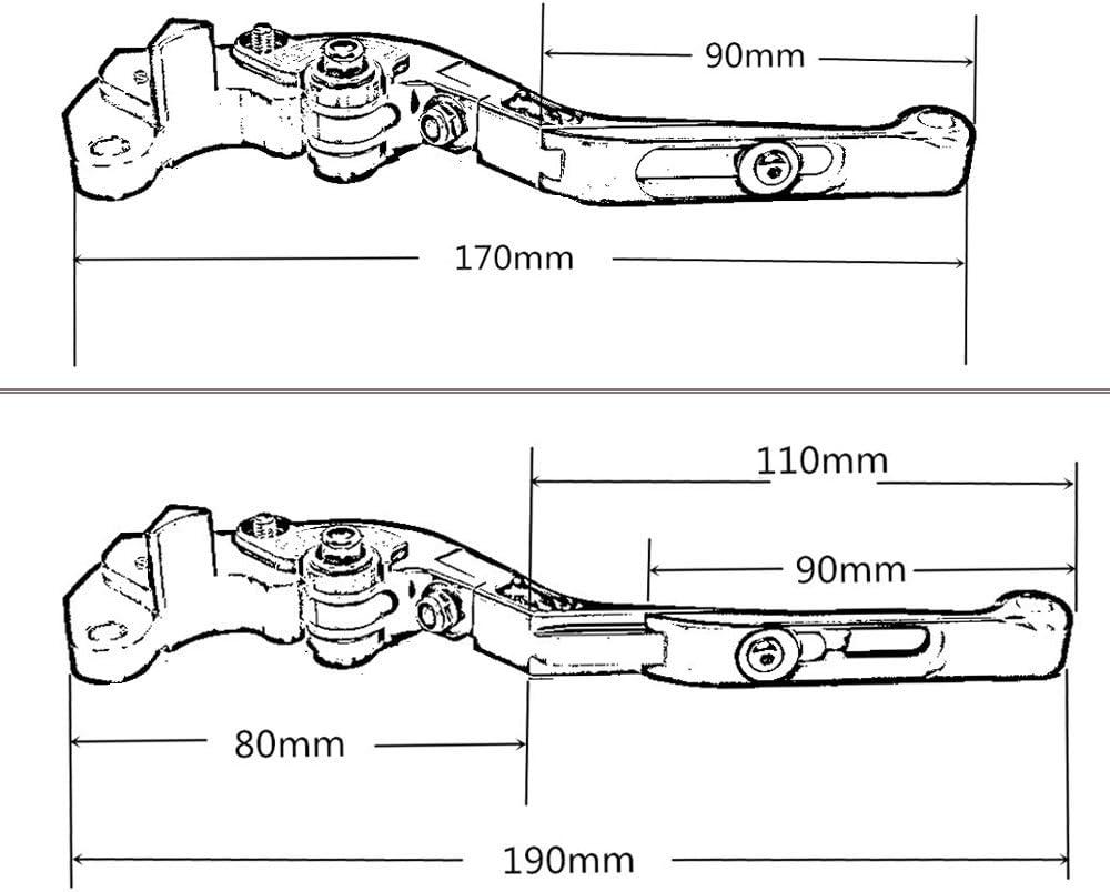2016 Nouveau Style moto r/églable CNC en aluminium Ensemble de leviers de freins dembrayage pour Hyosung Gt250r 2013