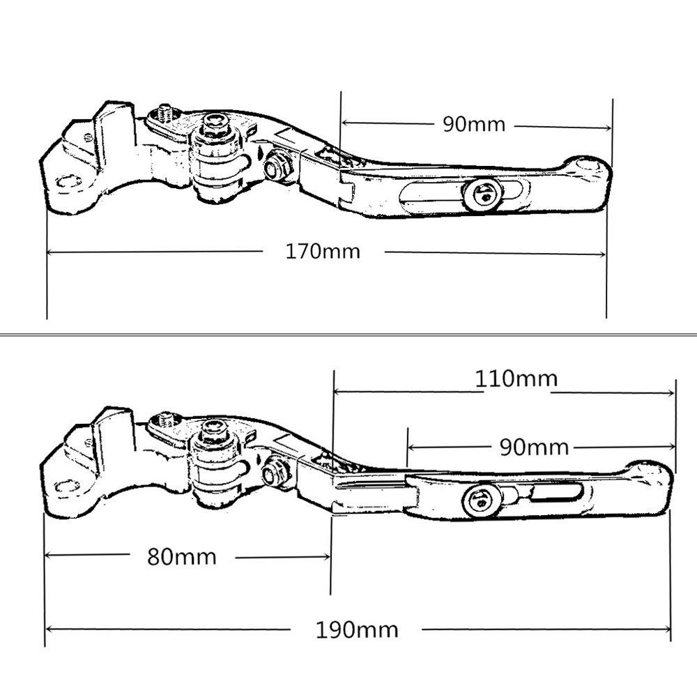 Palancas de embrague de freno plegables ajustables CNC para BMWF800GS Adventure 2008-2018 F800R 2009-2018 F800GT 2013-2018 F800ST 2006-2015 F800S2006-2014: ...