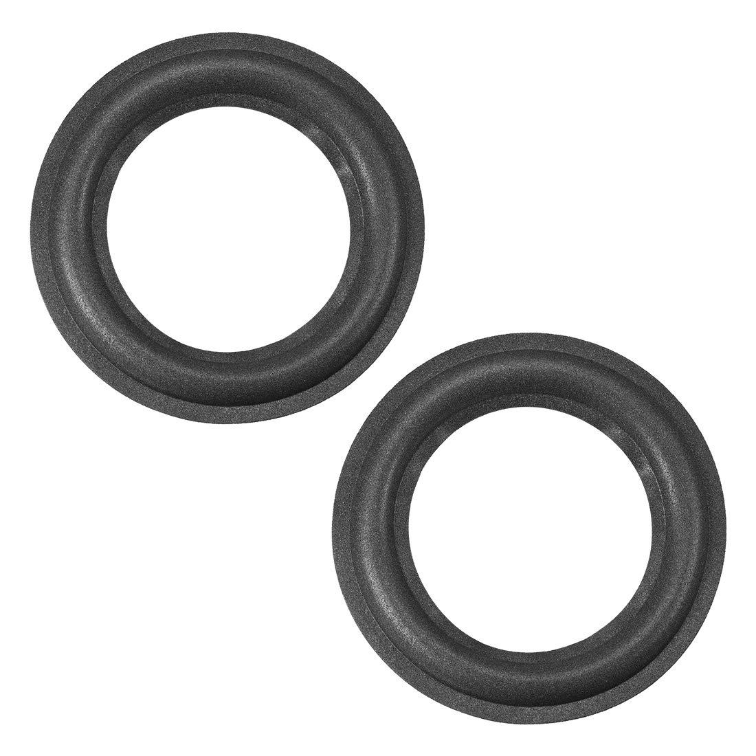 uxcell 4.5 4.5 inch Speaker Foam Edge Surround Rings Replacement Parts for Speaker Repair or DIY 2pcs