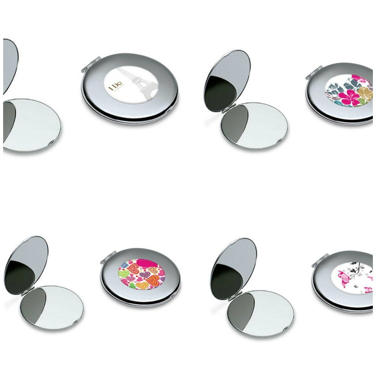 Yingealy Childrens Mirror Mini Butterfly Pattern Round Metal Small Glass Mirrors Circles for Crafts Decoration Cosmetic Accessory by Yingealy (Image #2)