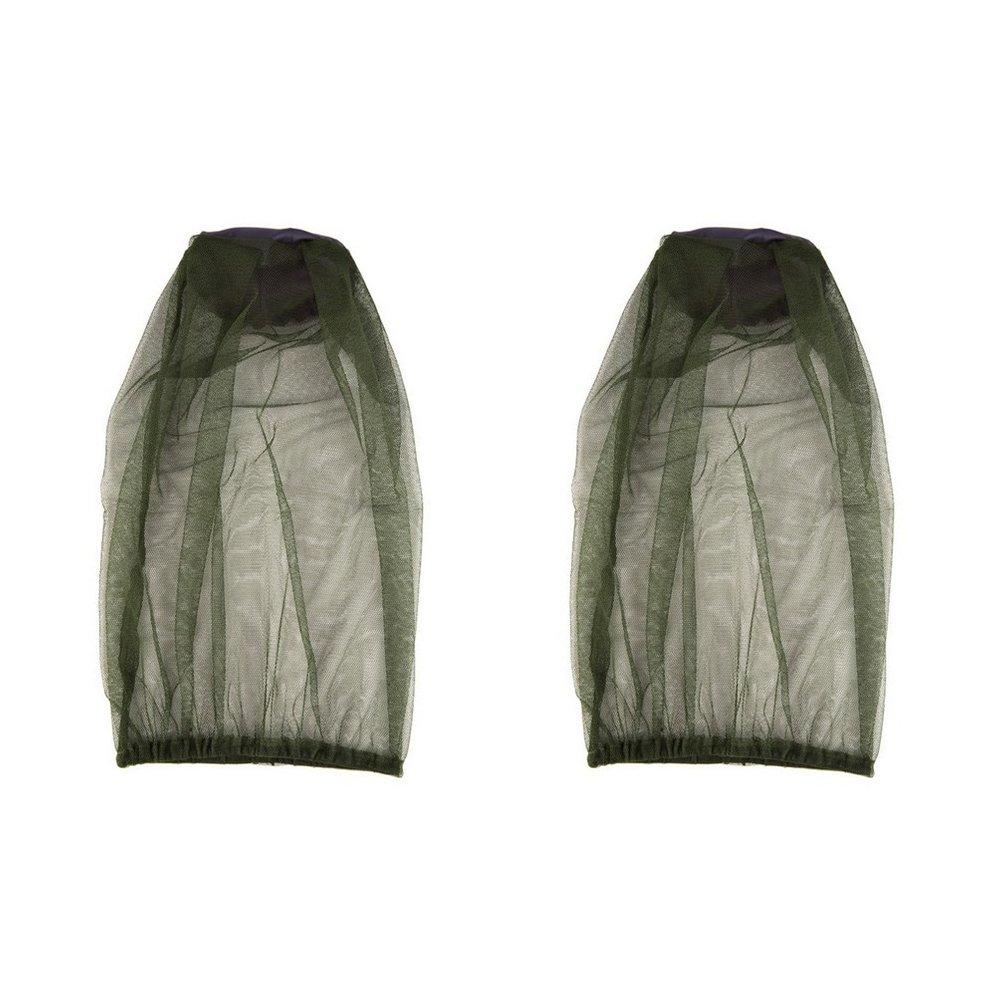 Head Net malla ounona insectos Protector Facial sombrero para viajes Camping senderismo pesca 2pcs