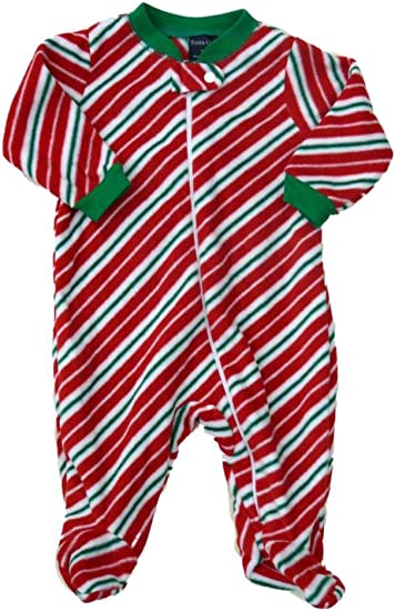 Infant Girls Faded Glory Baby Merry Christmas Sleeper Red Velour 3-6 Months NEW