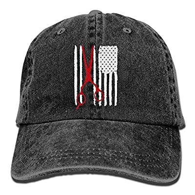 NZWJW85 2018 Adult Fashion Cotton Denim Baseball Cap American Flag Worn Scissors Classic Dad Hat Adjustable Plain Cap