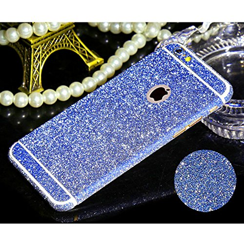 """ANYPHONE-for Regular iPhone 6 4.7""""Multi-Color Sparkle Bling Full Body Wrap Decal Glitter Skin Sticker Guard(Blue)"""