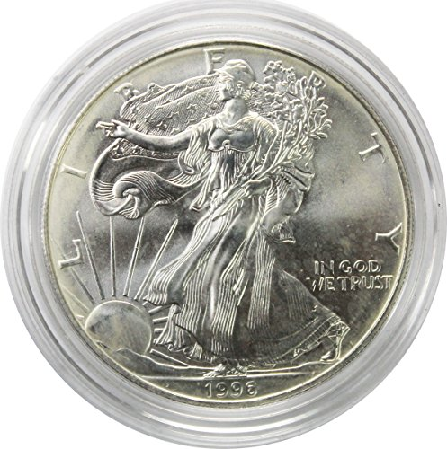1996 1 Oz. American Silver Eagle $1 Brilliant Uncirculated w/Cap
