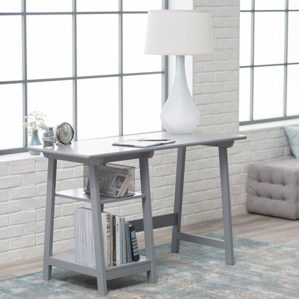 Manhattan Open Computer Desk with Adjustable Shelf -