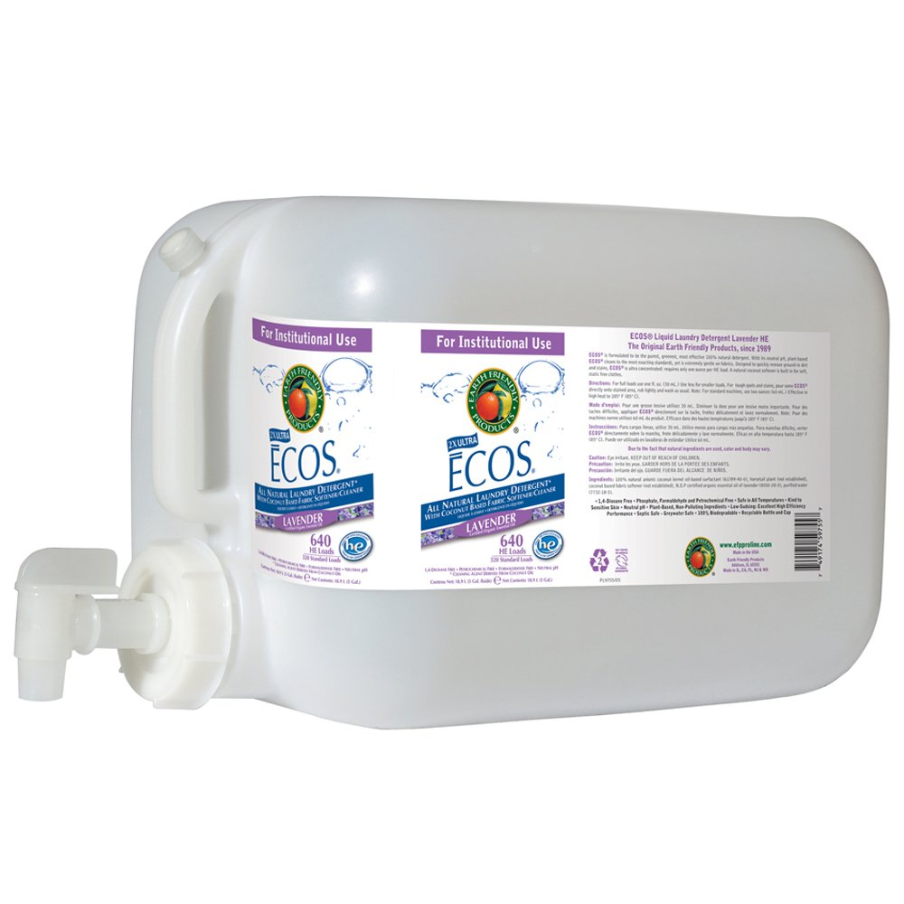 Earth Friendly Products Proline PL9755/05U ECOS Lavender Scented Liquid Laundry Detergent, 5 gallon Deltangular
