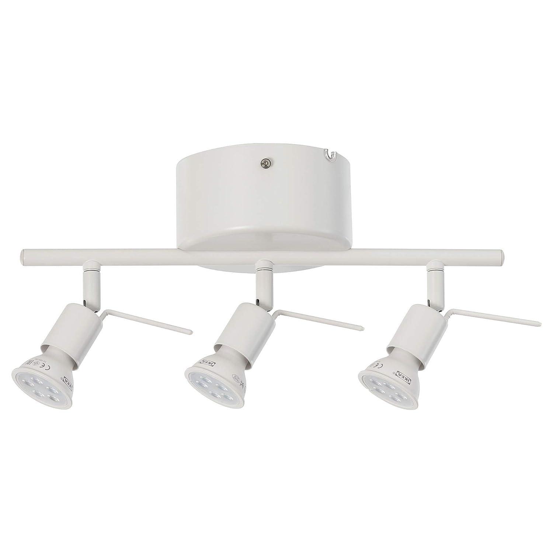 3 Spotlights IKEA 802.626.63 Tross Ceiling Track White