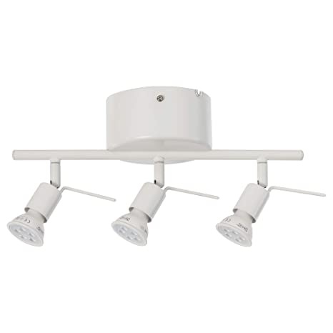 IKEA 802.626.63 Tross - Lámpara de techo (3 focos), color blanco ...
