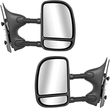 New Set Of 2 LH /& RH Side Non Heated Power Mirror Fits Ford F-Series Super Duty