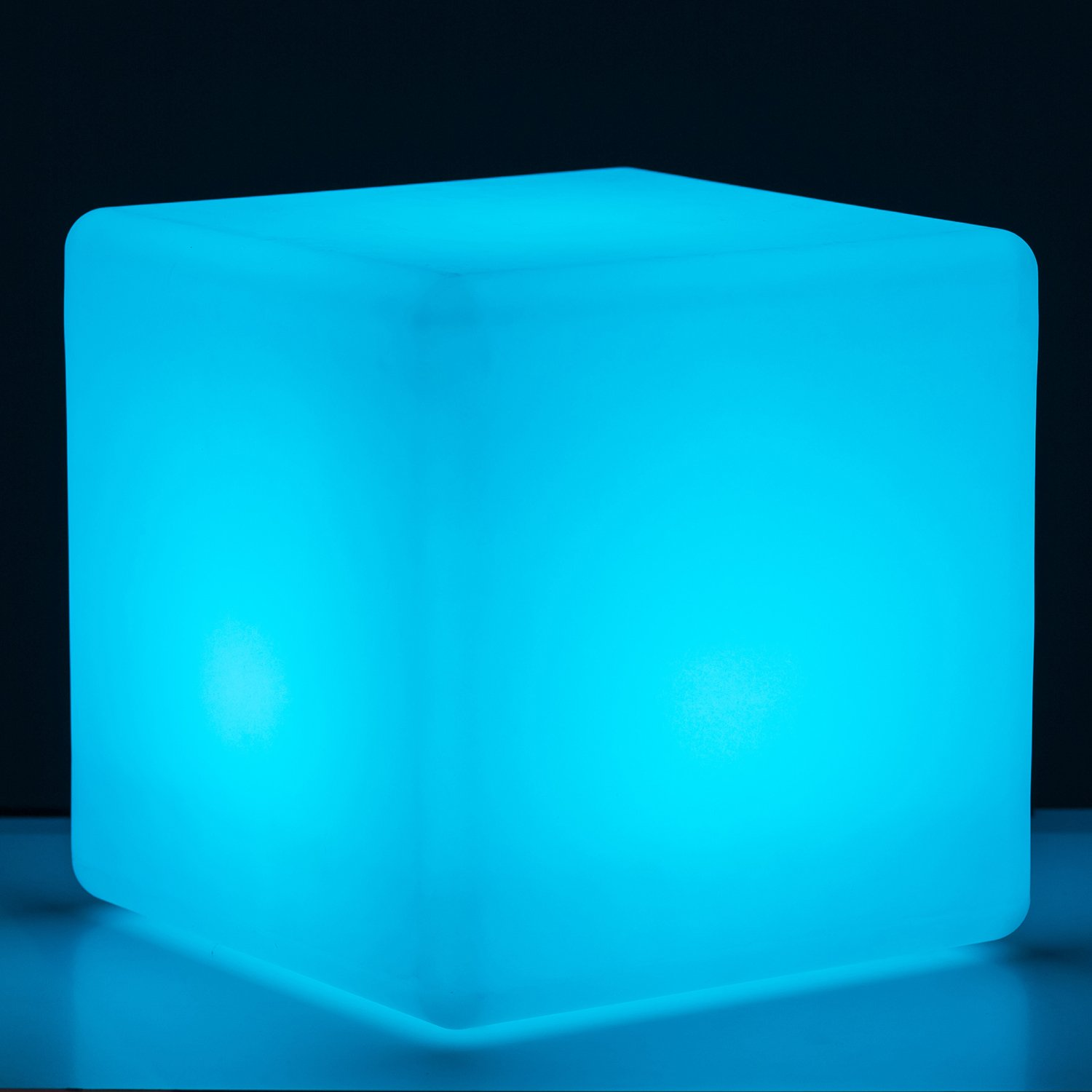 Mr.Go Indoor/Outdoor Rechargeable LED Color-changing Light Cube 10'' with Remote, Dimmable 16 Colors 4 Modes, Ideal for Mood Lamp Home Pool Yard Patio Party Bedroom Ambient Decorative Lighting by Mr.Go