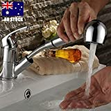 TOTAL HOME : AU Luxury Brass Pull Out Shower Head Mixer Tap Faucet Spout Hose Kitchen Sink Basin
