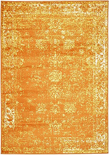Unique Loom Sofia Collection Orange 4 x 6 Area Rug