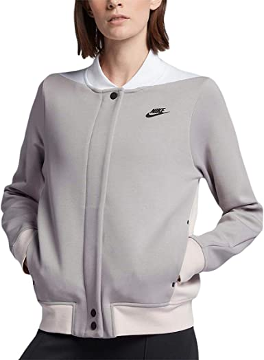 Montón de aficionado Estallar  Amazon.com: Nike - Chaqueta de forro polar para mujer, color gris S:  Clothing