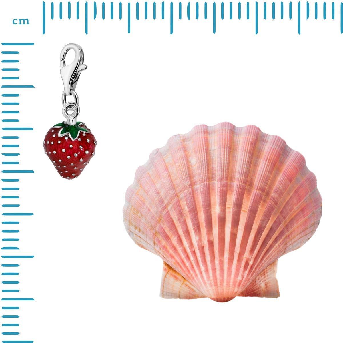Quiges Plaqu/é Argent Th/ème Fruits et Baies Charm Breloque avec Fermoir /à Homard pour Les Bracelets