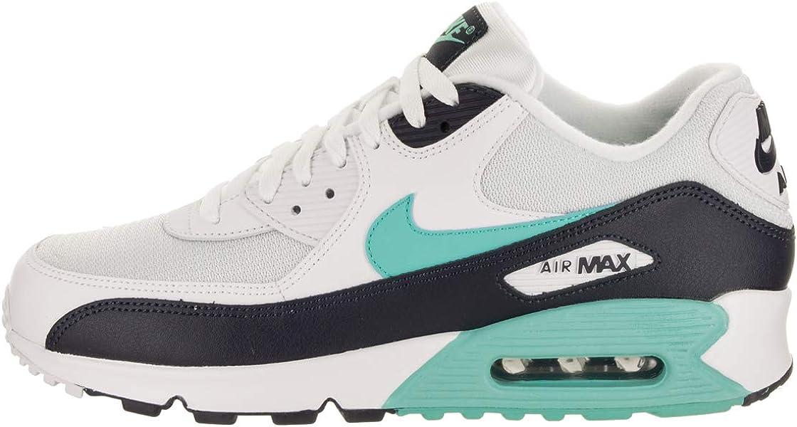 sale retailer 29c1f 35262 Mens Air Max 90 Essential Running Shoes White Aurora Green Obsidian  AJ1285-102 Size 11