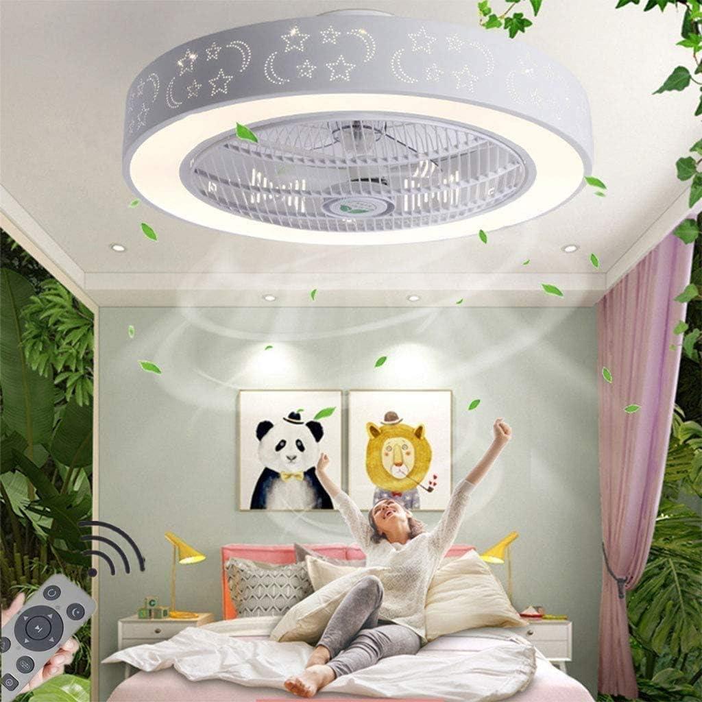 3 Stalls Deckenventilator Raelf Eine neue Art von Licht unsichtbar Fan-Licht f/ührte Deckenleuchte Das kann aus der Ferne Steuerung Der Fan-Leuchter.Deckenventilator LED Drei-Farben-Temperatur dimmbar