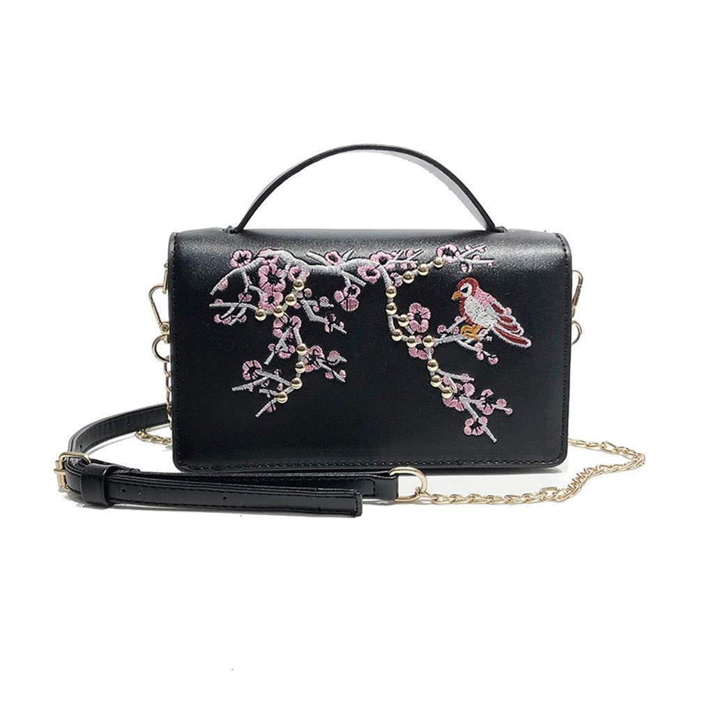 33bf958c9192 Amazon.com: Cujubag Embroidery Flower Women Handbag Messenger Bag ...