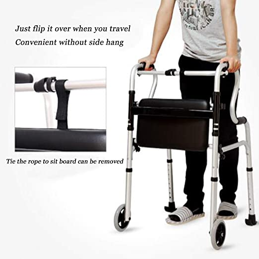 DOPORA Andador para Personas de Edad Avanzada,aleación de Aluminio ...